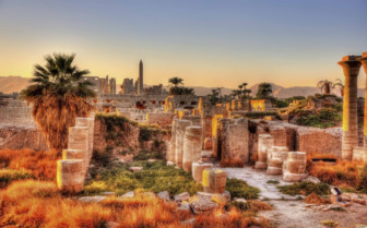 Karnak temple evening view