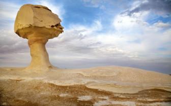 White desert mushroom rock