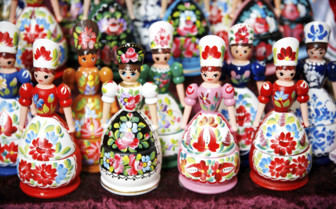 Hungarian folk art puppets