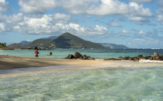 Long haul bay beach Nevis and St Kitts