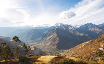 The Sacred Valley mountains