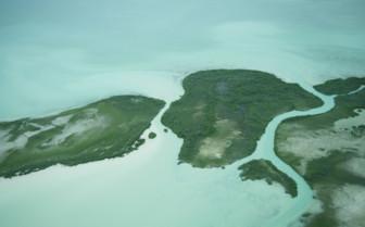 Belize Atolls Aerial Shot