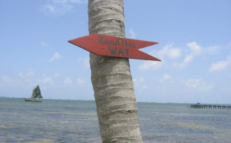 Ambergis Caye Belize Road Signs