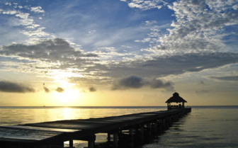 Amberges Caye Sunset Pier Belize