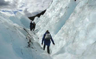 Climbing Through Josef Glacier