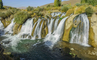 Muradiye Waterfall in Turkey