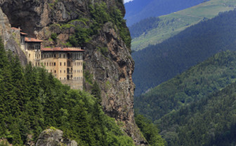 Sumela Monastery in the Turkish Mountains