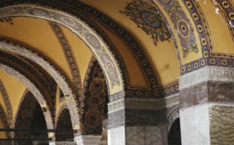 Hagia Sofia Arches in Istanbul