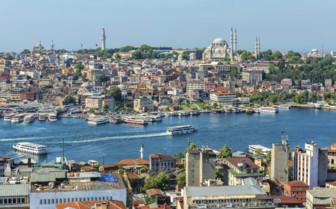 Istanbul Goldern Horn in the Daytime