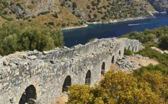 Ancient Wall on the Aegean Coast