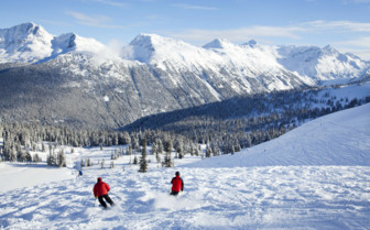 Sun Bowl in Whistler Mountain