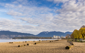 Kitsliano Beach in Vancouver