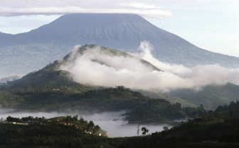 Volcano at the National Park in Rwanda