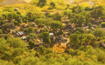 Malawi Village Aerial Shot