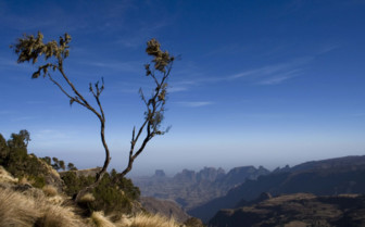 View of the Mountains in Ethiopia
