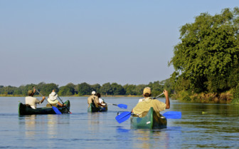 Canoeing in Zambezi