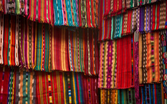 Wall of Textiles in Guatemala