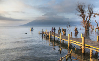 Walkway to Lake Atitlan