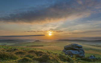Sunset in Dartmoor National Park
