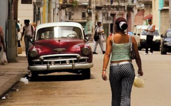 City scene in Cuba
