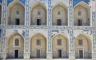 Blue White Archways