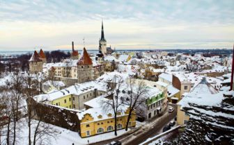 Tallinn in Winter, Estonia