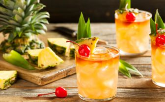 Mai tai cocktail caribbean