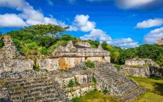 Ancient mayan pyramid
