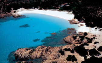 Aerial beach and sea view, Sardinia