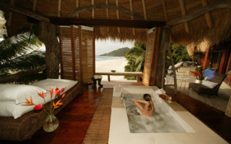 Picture of Jacuzzi Bath in a North Island Villa