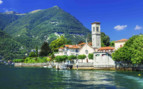 Lake Como church