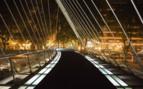 A Modern Bridge in Bilbao by Night