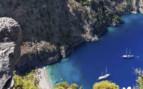 Aegean aerial cove view