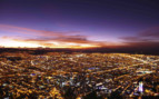 Aerial Bogota by night