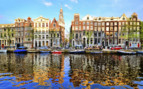 Canal reflections in Amsterdam
