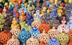 Colourful Market Pots, Tunisia