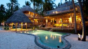 A villa at Soneva Fushi with large pool
