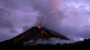 Arenal volcano lava