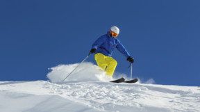 Skiing in the Tyrolean Alps