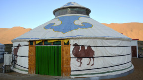 A Traditional Ger in Mongolia