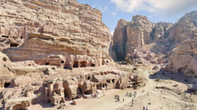 Tourists at Petra