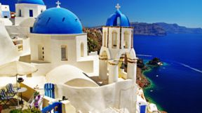 Blue Domes in Santorini