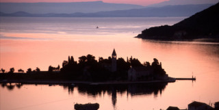 photo from the Dalmatian Coast at sunset