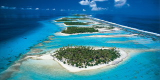 Picture of aerial view of Rangiroa