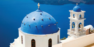 Domed Church Overlooking the Aegean