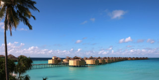 eco friendly water villas in the open ocean