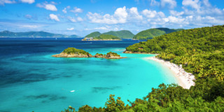 Trunk Bay in the Caribbean